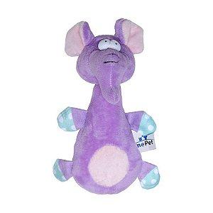 Brinquedo Jolitex Homepet Elefante Roxo de Pelúcia