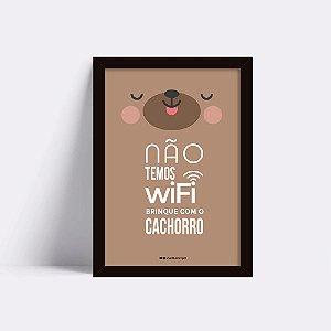 Quadro No Wifi Cachorro
