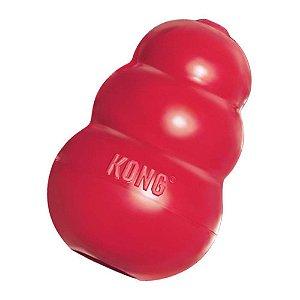 Brinquedo Interativo KONG Classic com Dispenser para Ração ou Petisco - Vermelho