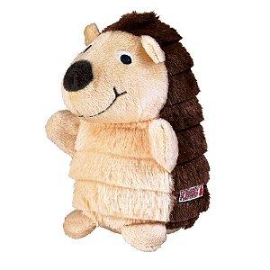 Brinquedo KONG Layerz Hedgehog RG Marrom para Cães