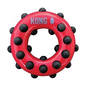 Brinquedo KONG Dotz Circle Vermelho para Cães