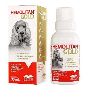 Suplemento Vetnil Hemolitan Gold Gotas