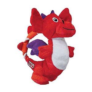 Brinquedo KONG Assorted Dragon Knots Vermelho para Cães