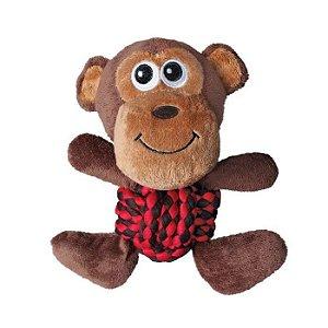 Brinquedo KONG Weave Knots Monkey Marrom para Cães (M)