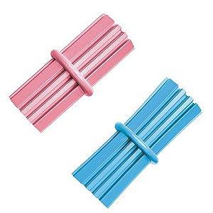 Brinquedo Interativo KONG Puppy Teething Stick com Dispenser para Ração ou Petisco