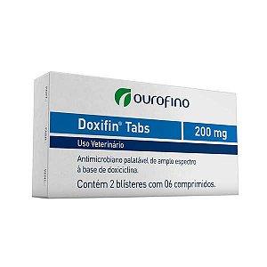 Antimicrobiano Ouro Fino Doxifin Tabs 06 Comprimidos 200 mg
