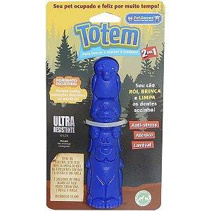 Brinquedo Pet Games Mordedor Totem Nylon - Azul