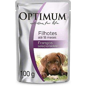 Ração Úmida Optimum Sachê Frango para Cães Filhotes 100g