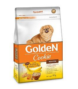 Biscoito Golden Cookie Banana aveia e mel para Cães Adultos 350g