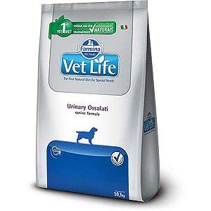 Ração Farmina Vet Life Urinary Ossalati para Cães Adultos com Cálculos Urinários