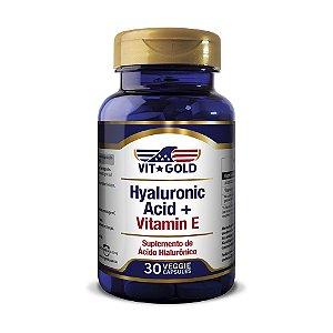 Ácido Hialurônico 100mg com Vitamina E Vitgold 30 cápsulas