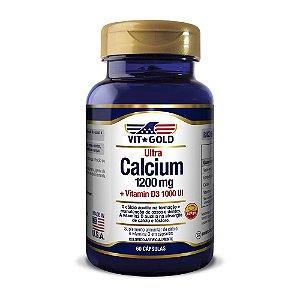 Ultra Cálcio 1200mg + Vitamina D3 1000UI Vitgold 60 cáps.