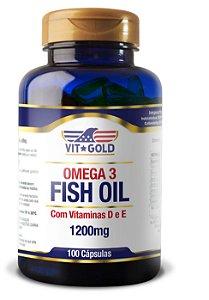 Omega 3 (Fish Oil) 1200mg com Vitaminas D e E 100 cápsulas