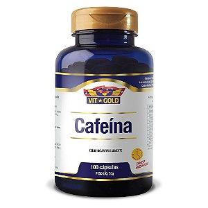 Cafeina Time Release 420mg Vitgold 100 cápsulas