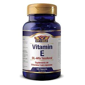 Vitamina E DL-Alfa Tocoferol Vitgold 120 cápsulas