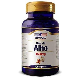 Óleo de Alho 1500mg Vitgold 100 cápsulas