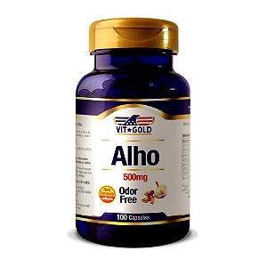 Óleo de Alho 500mg Odor Free Vitgold 100 cápsulas