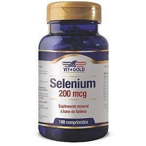 Selênio 200mcg Vitgold 100 comprimidos