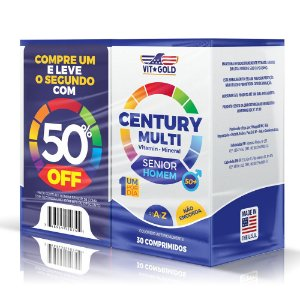 Multivitaminico Century Senior Homem 30 Comp. Vitgold Kit Com 2 Unidades
