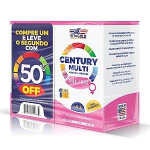Multivitaminico Century Mulher60 Comp. Vitgold Kit Com 2 Unidades