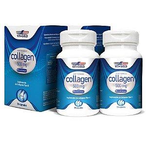 Colágeno Tipo 2 com BioCell  Vitgold Kit 2x 30 cap