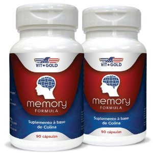 Memory Formula (Suplemento Memória) Vitgold Kit 2x 90 Cáps