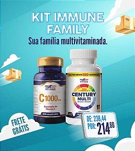 KIT IMMUNE FAMILY - Century Multi 150 comprimidos + Vitamina C 1.000mg 100 compr.