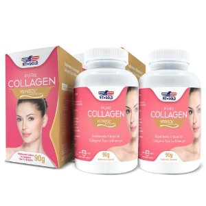 Colágeno Verisol em Pó - Tipo 1 e 3 Vitgold Kit 2x 90g