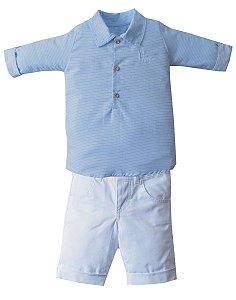 Conjunto Camisa Polo com Bermuda U&Co Diversas Cores - Upi Uli