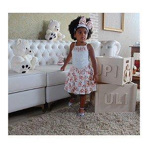 Conjunto Blusa com Saia Ursinhas - Upi Uli