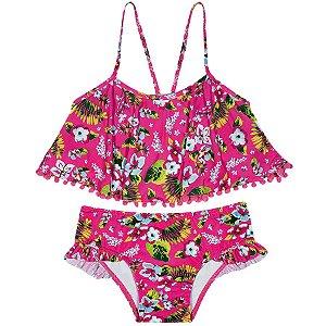 Top com Calcinha Praia Pink - Tip Top