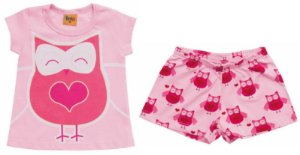 Pijama Conjunto Coruja - Brilha no Escuro - Rolú