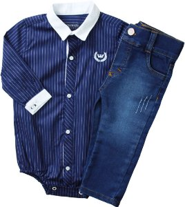 Conjunto Body com Calça Jeans Diversas Cores- Club Z