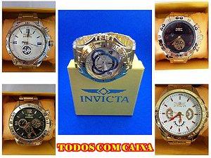 kit 05 Relógios Invicta Masculinos Atacado Para Revenda