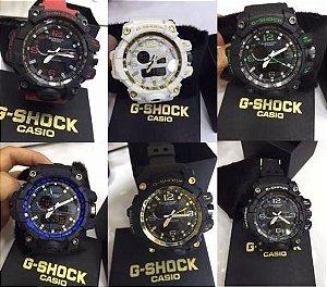 Kit 05 Relógio Casio G Shock Digital e Analógico Com Luz Led
