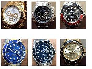 Kit 10 Relógios Rolex Replica Dourados e Prata Atacado