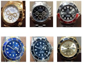 Kit 06 Relógios Rolex Replica Dourados e Prata Atacado