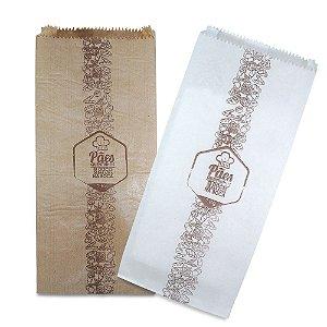 Saco de Papel KRAFT Para Pães e Doces - Pardo ou Branco - 1kg à 15kg - 500 unidades