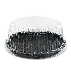 Embalagem para Bolo e Torta PR50 PRETA 23cm diâmetro - 50 UNIDADES