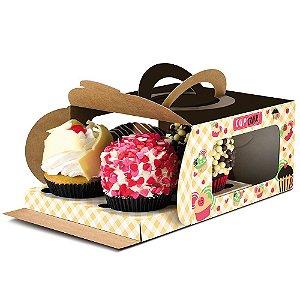Embalagem para 4 Cupcakes PD47 - 100 unidades