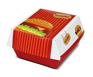 Embalagem para lanche e hamburguer H1 - 100 unidades
