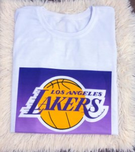 T-SHIRTS FEMININA POLIÉSTER BRANCA LOS ANGELES LAKERS