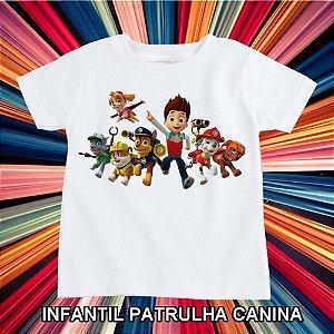 T-SHIRTS POLIÉSTER INFANTIL PATRULHA CANINA