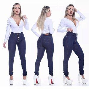 Pacote com 6 Calças Jeans Femininas Cintura Alta com Lycra