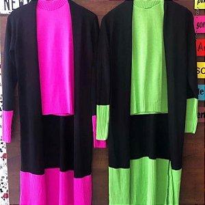 Conjunto tricot duas peças sobretudo + Blusa  VAREJO  115,90 Frete grátis
