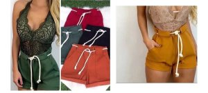 Kit com 10 Shorts Bengaline Com Cordão - Revenda