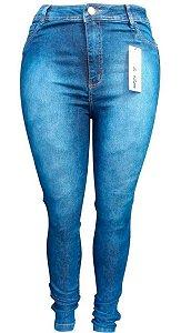 Kit Com 2 Calças Jeans Fem Cintura Alta Plusize