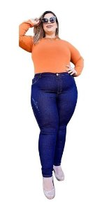 Kit Com 6 Calças Jeans Femininas Plu Size