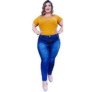 Calça Jeans Feminina Plusize com Lycra  Zam Zam Jeans