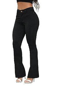 Calça Jeans Feminina Flare Preta